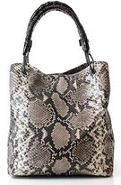Nancy Gonzalez Brown Python Large Tote Handbag