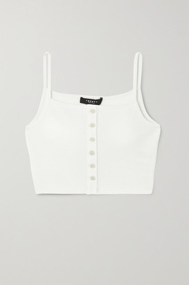 Twenty Montreal Everest Thermal Cropped Waffle-knit Jersey Tank - White