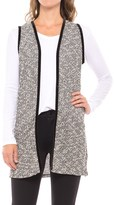 August Silk Lace-Back Vest - Velvet Trim (For Women)
