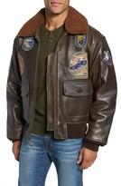 Schott NYC Genuine Shearling Collar G-1 Flight Jacket