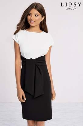 Lipsy Mono 2 In 1 Bodycon Dress - 6 - Black