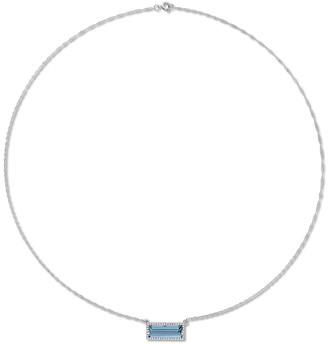 Diamond Select Cuts 14K 3.13 Ct. Tw. Diamond & London Blue Topaz Necklace
