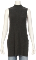 Autumn Cashmere Ribbed Mock Sleeveless Sweater