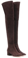 Gianvito Rossi Rolling Mid over-the-knee suede boots
