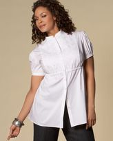 INC International Concepts ®  Plus Size Embroidered Mandarin-Collar Blouse