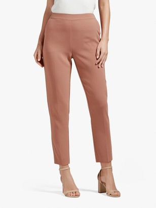 Forever New Carrie Ankle Grazer Trousers, Rust