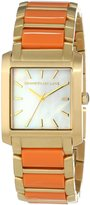 Kenneth Jay Lane Women's KJLANE-1610 Dial Gold Ion-Plated Stainless Steel and Coral Resin Watch