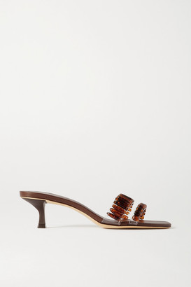 Cult Gaia Janae Bead-embellished Pvc Sandals - Brown