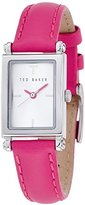 Ted Baker Women's TE2117 Rectangular Hot Pink Leather Watch