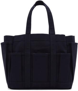 Comme des Garcons Navy Canvas Tool Bag