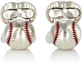 Deakin & Francis Men's Baseball Cufflinks-SILVER, NO COLOR