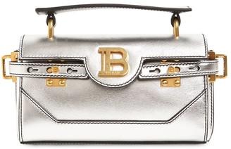 Balmain Bbuzz Baguette 19 Metallic Leather Bag