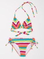 Caliente Girls 7-14 Sun Tiki Tri Bikini Set