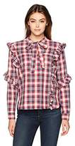 Blank NYC [BLANKNYC] Women's Plaid Shirt