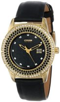 Citizen Women's FE1112-06E Drive From Eco-Drive TTG Analog Display Japanese Quartz Black Watch