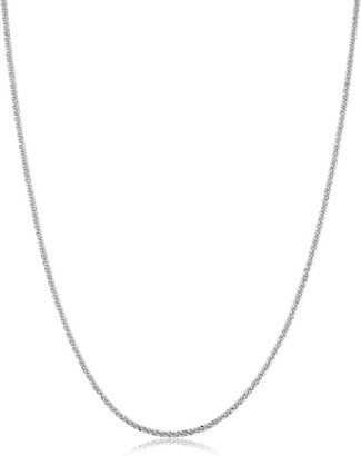 Fremada Rhodium Plated Sterling Silver Sparkle Chain Necklace