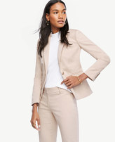 Ann Taylor Tall Cotton Sateen One Button Jacket