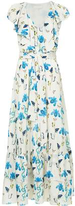 Borgo de Nor floral printed flared dress