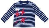 Jo-Jo JoJo Maman Bebe Air Show Top (Toddler/Kid) - Navy/White Stripe-3-4 Years