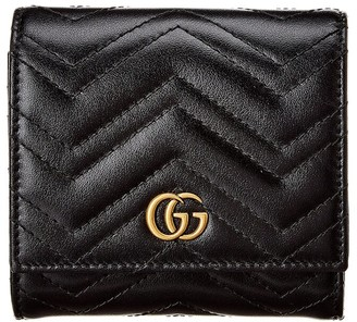 Gucci Gg Marmont Matelasse Leather French Wallet