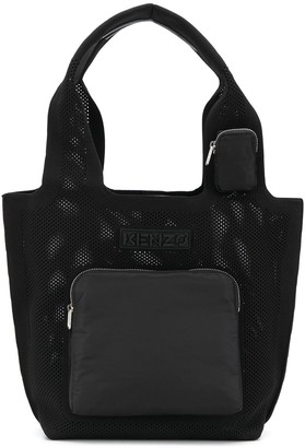 Kenzo Mesh Tote Bag With Front Pocket