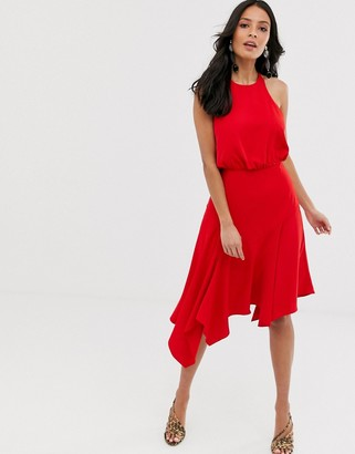 Lipsy midaxi dress in red