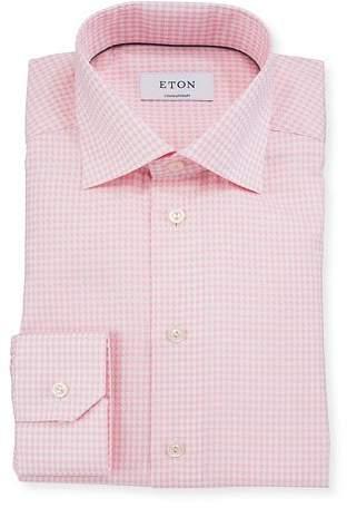 Eton Contemporary-Fit Houndstooth Dress Shirt