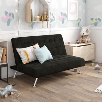 DHP Milo Kids Sofa Futon, Multiple Colors, (Black)