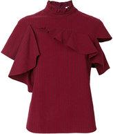 Manoush ruffled asymmetric T-shirt