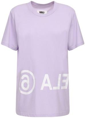 MM6 MAISON MARGIELA Over Logo Cotton Jersey T-shirt