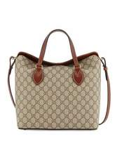 Gucci GG Supreme Tote Bag, Beige/Ebony/Cuir