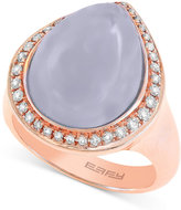 Effy Chalcedony (7-9/10 ct. t.w.) and Diamond (1/4 ct. t.w.) Ring in 14k Rose Gold