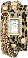 XOXO Women's XO5629 Band with Chains Accent Double Wrap Watch