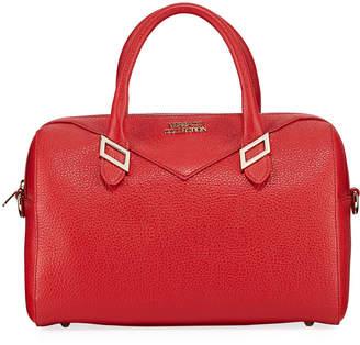 Versace Pebbled Leather Medium Top-Handle Bag