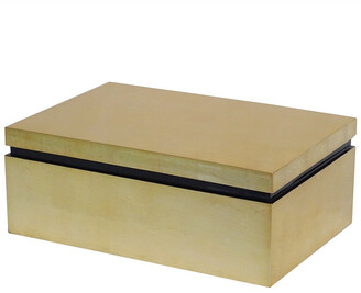 BIDKhome Large Gold Leaf Lacquer Box