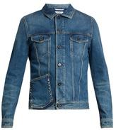 Valentino Stud-embellished Slim-fit Denim Jacket