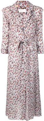 Chloé floral print wrap dress
