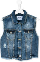 MSGM distressed denim gilet