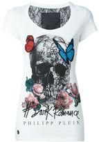 Philipp Plein butterfly skull T-shirt - women - Cotton/Polyamide - XS