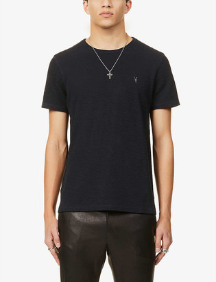 AllSaints Muse logo-embroidered cotton-jersey T-shirt
