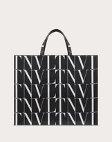 Thumbnail for your product : Valentino Times Leather Tote Bag Man Black/white 100% Pelle Bovina - Bos Taurus OneSize