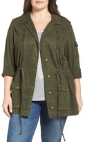 Lucky Brand Plus Size Women's Soft Military Jacket