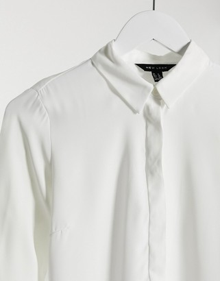 New Look classic button up shirt in white