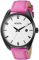 Nixon Women's A4732049 Bullet Leather Analog Display Japanese Quartz Pink Watch