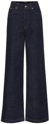 Dolce & Gabbana High-rise wide-leg jeans
