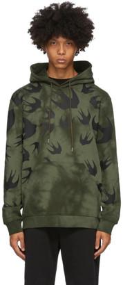 McQ Green Swallow Tie-Dye Hoodie