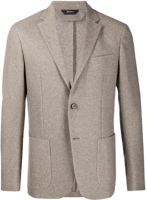Ermenegildo Zegna Single Breasted Pique Blazer
