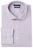 Tailorbyrd Pink Trim Fit Check Dress Shirt