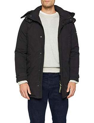 Scotch & Soda Men's Lightweight Padded Long Parka Jacket,XX-Large
