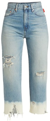 Denimist Pierce High-Rise Dip-Dye Cropped Jeans